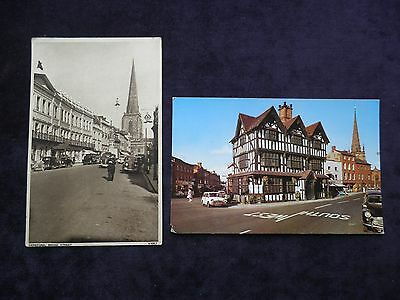 2 Vintage Postcards Of Hereford, Broad Street, The Old House