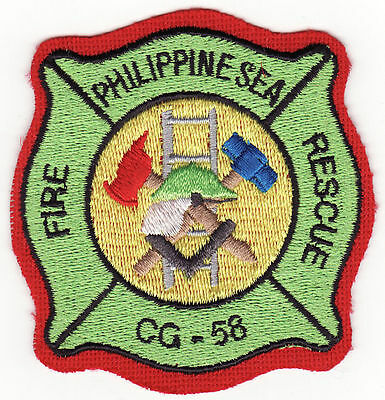 Philippine Sea CG-58 Navy Ship Rescue Fire Patch *New*