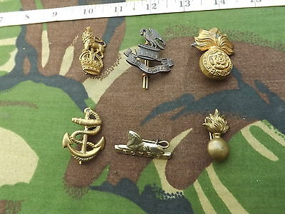 Lot of 6 Different, Old British Army Collar Badges