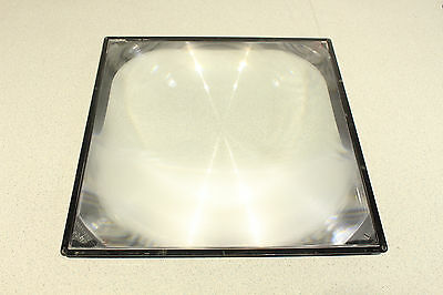 "Fresnel Lens 12.5"" x 12.5"" from Overhead Projectors 8"" Focal Length Tested Works"