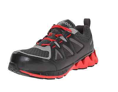 Reebok RB3000 Men's Black and Red Zigkick Composite Toe Work Shoes