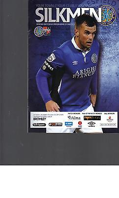 PROGRAMME - MACCLESFIELD TOWN v BROMLEY - 17 DECEMBER 2016