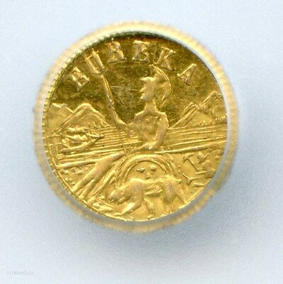 1885 Arms of California Gold Token MS63 Certified - Privately Minted