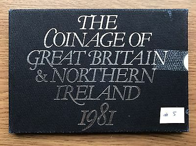 1981 Royal Mint Proof 6 Coin Collection - Original Sleeve UK/GB Year Set #5