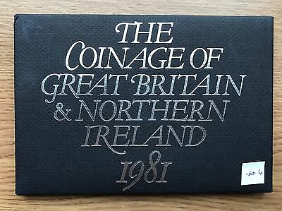 1981 Royal Mint Proof 6 Coin Collection - Original Sleeve UK/GB Year Set #4