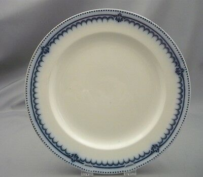 Antique Booths Flow Blue Simplex Pattern England Silicon China Dinner Plate