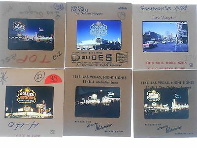Vegas Vic Apache Depot Golden Nugget Aerial Slide Photo Nevada Vintage Bingo