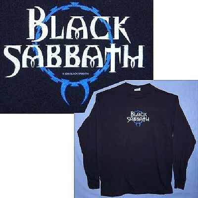 Black Sabbath Barbed Wire Reunion Logo Blk Long Sleeve Shirt Large New Official