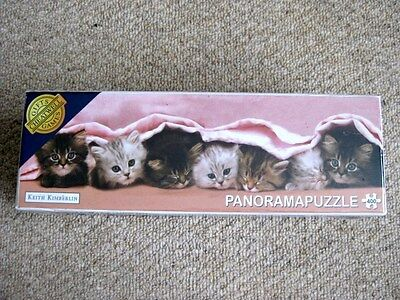 7 Cute Kittys 400 Piece 700 X 233Mm Panorama Jigsaw Puzzle Factory Sealed