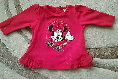 disney red blue spotted long sleeve minnie mouse top 0 3 months