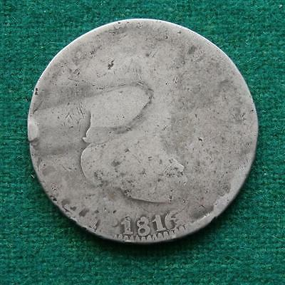 1816 SILVER  8 Reales Ferdin VII King Mexican Coin Z AG