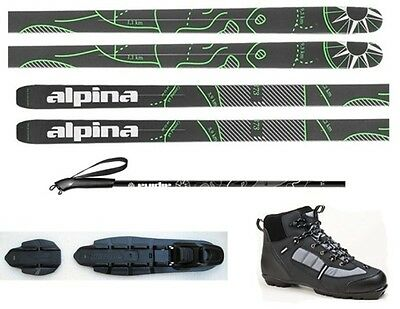 NEW ALPINA CONTROL 64 CROSS COUNTRY NNN SKIS/BINDINGS/BOOTS/POLES PACKAGE -185cm