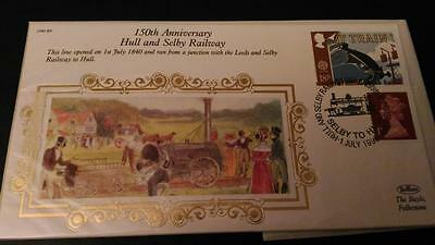 R90/09 1st July 1990 150th Anniversary Hull & Selby Railway First Day Cover