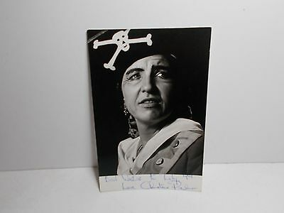 Authentic Signed  Photograph 1968 Christen Palmer D'oyley Carte Opera