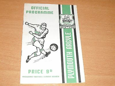 1968 - 1969 PLYMOUTH v READING LEAGUE MATCH