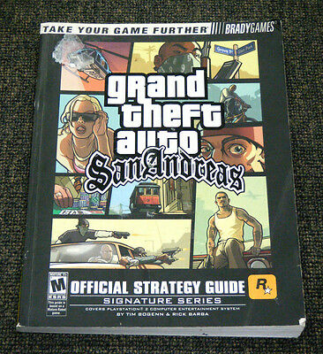 Playstation 2 PS2 Grand Theft Auto San Andreas Strategy Walkthrough Guide Book