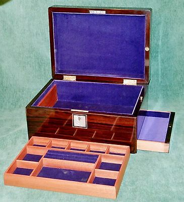 Superb Victorian Style Rosewood & MOP Jewellery Box with Side Drawer