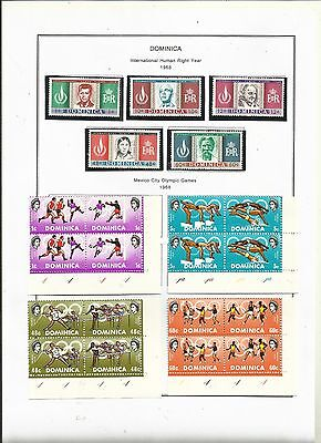 Dominica . 1968 - 1969. Mint on album pages.