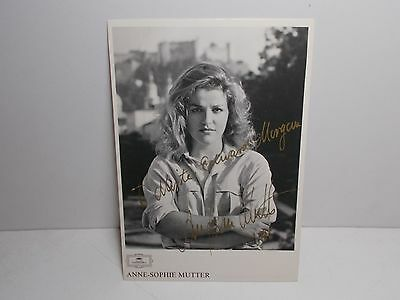 Authentic Signed  Photograph Annie-Sophie Mutter  German Violinist