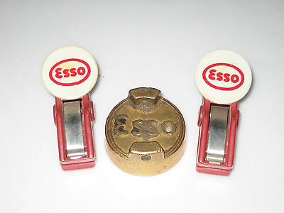 Vintage ESSO OIL Brass Petrol Can Cap BULLDOG PAPER CLIPS