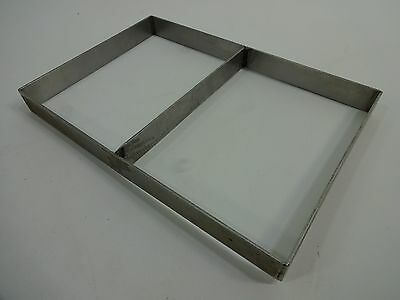 "Split Stainless Steel Frame Sheet Extender; L 12 1/2"" X W 8 1/2"" X H 1 1/4"" USED"