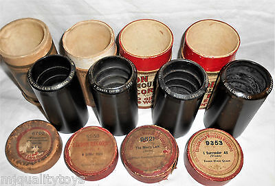 Lot Of 4 Edison Gold Moulded Phonograph Cylinders:8956,9621,9353 & 6703