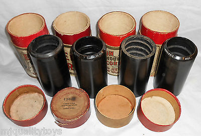 Lot Of 4 Edison Gold Moulded Phonograph Cylinders:6494,13365,13802  & 8938