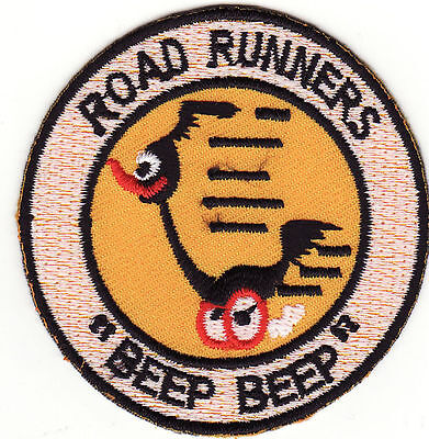 Beep Beep Road Runners Embroidered Iron On Patch *New*