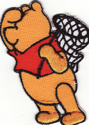 Winnie The Pooh (Facing Left) Embroidered Iron On Patch *New*
