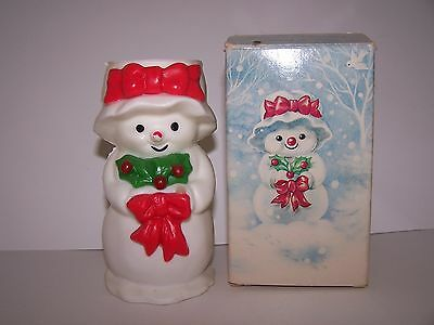 """Avon Mrs Snowlight Vintage  Bayberry Fragrance Candle Height 1 5/8"""""""