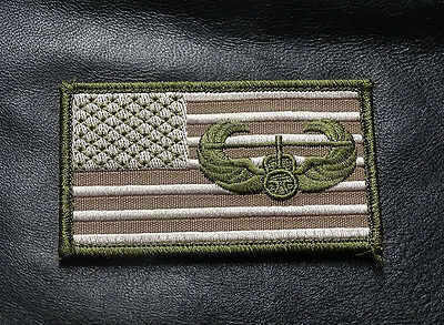 Air Assault Usa Flag Tactical Combat 3.5 Inch Hook Patch
