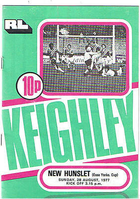 Keighley v New Hunslet 1977/8 Yorkshire Cup