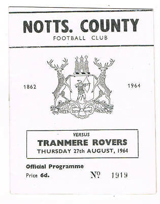 Notts County v Tranmere Rovers 1964/5 (27 Aug)