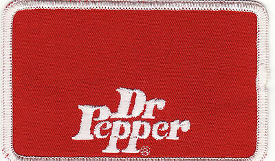 """Dr. Pepper 4"""" x 2 1/2"""" Embroidered Patch *Vintage*"""