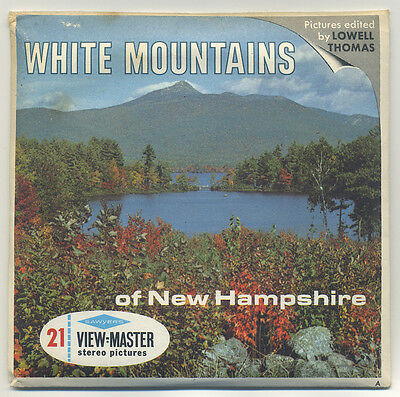 The WHITE MOUNTAINS of New Hampshire Sawyer's View-Master Packet A-702