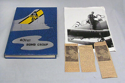 Original WWII 401st. Bomb Group History 8th Air Force/1946 Newsfoto Publishing