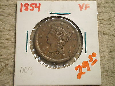 1854 Braided Hair Large Cent/ Great Coin