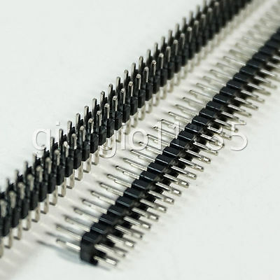 10 pcs 2.54mm 2 x 40 Pin Male Double Row Pin Header Strip New