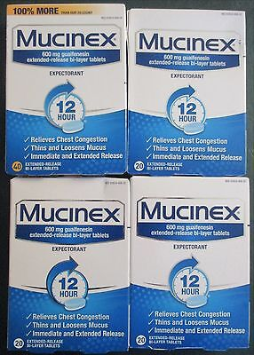 100 Mucinex Expectorant Relives Chest Cogestion 100 Bi-layer Tablet Genuine 7/19