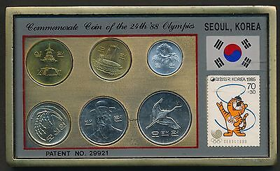 Korea South 1983 to 1989 6 coin souvenir set