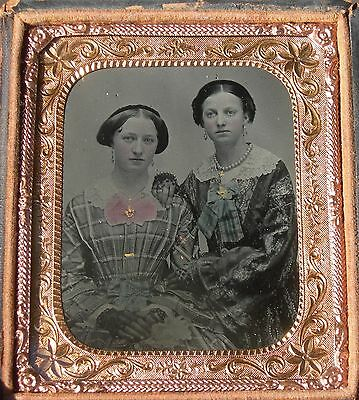 Cased Tintype 2 Young Ladies