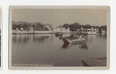India, Udaipur, Water Palace Real Photo Postcard A624