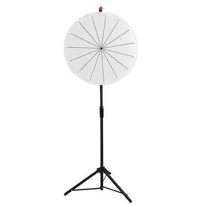 "44""-62"" 24"" Editable White Dry Erase Prize Wheel Floor Stand Tripod Spin Game"