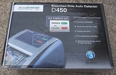AccuBanker D450 Bleached Bills Auto Detector (Used)
