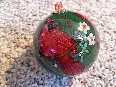 Ohio State Bird Christmas Ornament In Box Hand Painted