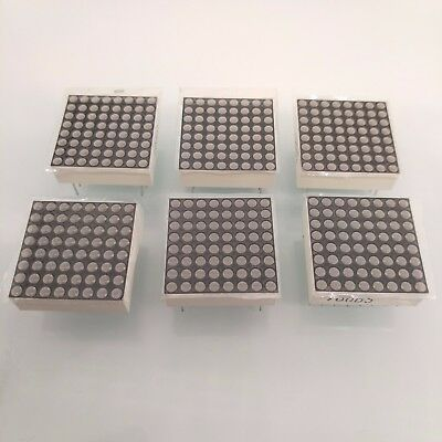6 pcs 1.9mm 8 x 8 Dotmatrix Dot Matrix Red LED Display Common Cathode New