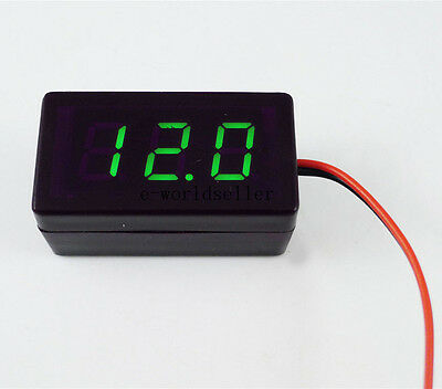 US Stock Green LED Volt Meter 1.7V 5V 9V 12V  24V 1.7V~25V Doesn't Require Power