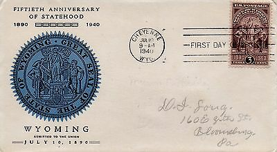 US FDC #897 Wyoming (1811)