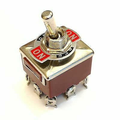 New 3PDT 3 Position 9 Screw PIN Terminals Toggle Switch AC380V 10A E-TEN303