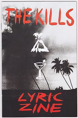 The Kills Ash & Ice LYRIC ZINE 2016 Official Promo Mint Booklet Pamphlet CHEAP!